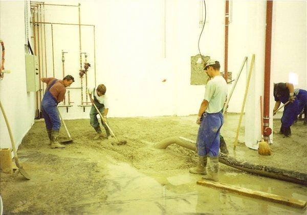 Vgradna betona ročno