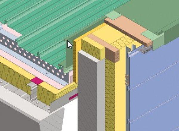 Debelina izolacije fasade - Zaključek na atiki Planum