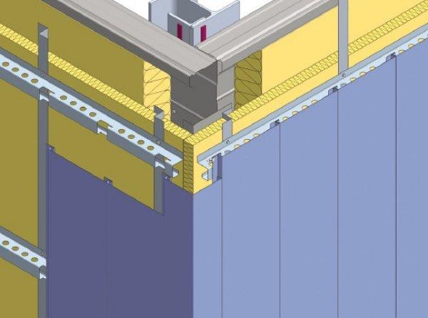 Debelina izolacije fasade - Vogala z vogalnim profilom