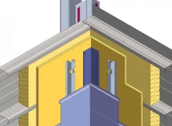 Debelina izolacije fasade - Notranji vogal