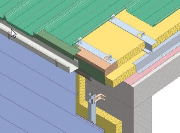 Debelina izolacije fasade - Zgornji zaključek Planum