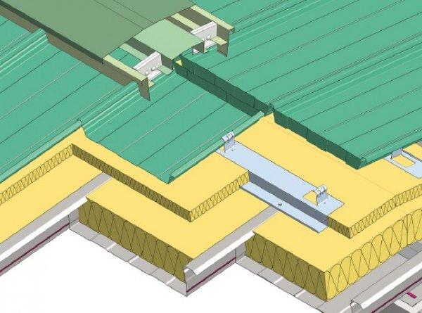 Trapezna pločevina, zaključek sleme topla streha