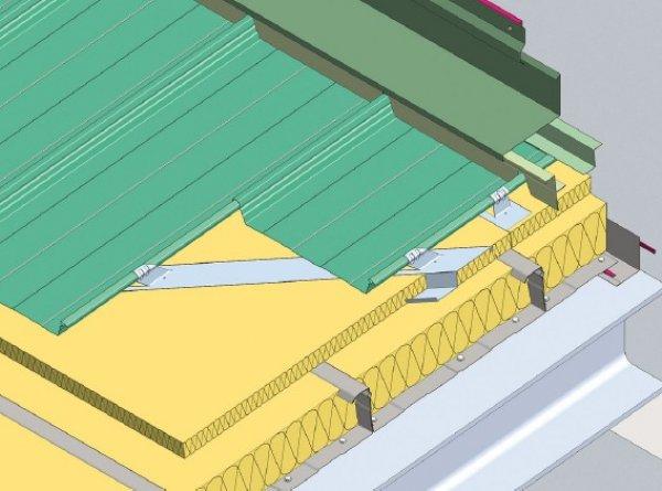 Trapezna pločevina, stenski zaključek čelni