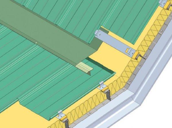 Trapezna pločevina, sprememba naklona strešine