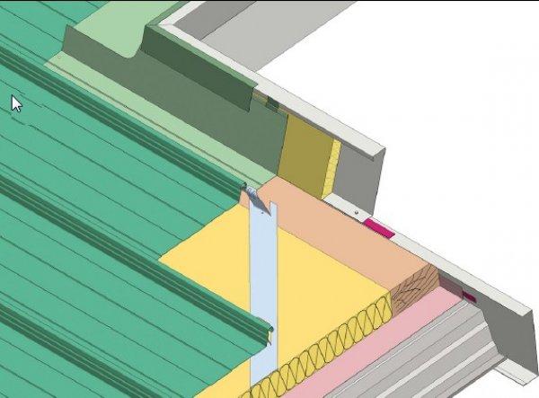 Trapezna pločevina, zaključek svetlobna kupola