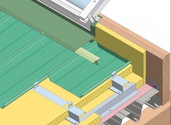 Trapezna pločevina, svetlobni trak na čelni strani