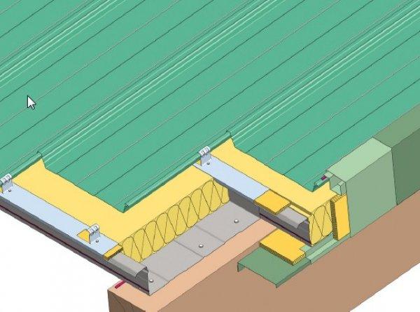 Trapezna pločevina - Stranska obroba topla streha
