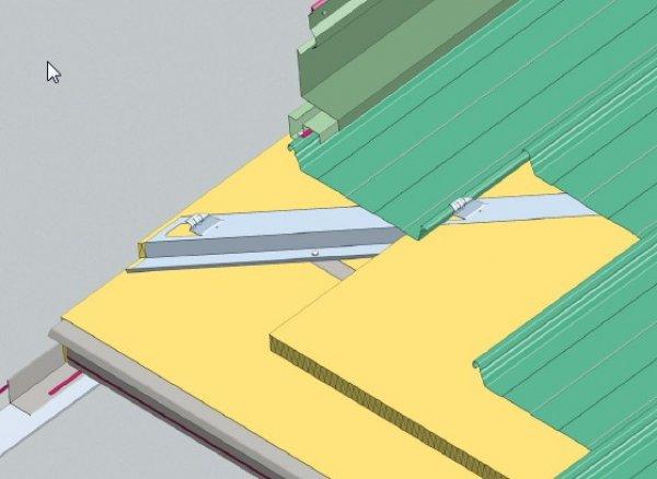 Trapezna pločevina, stenski zaključek stranski