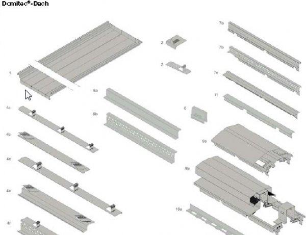 Sestavni elementi sistema strehe Domico