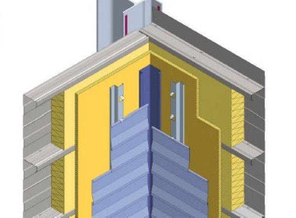 Toplotna izolacija fasade Struktur - notranji vogal
