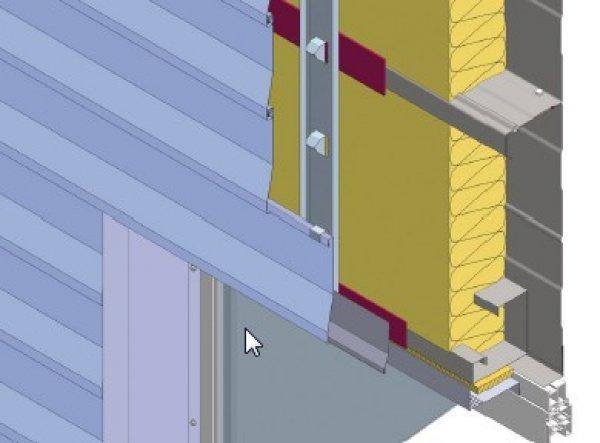 Izolacija fasade, zgornji okenski zaključek Struktur