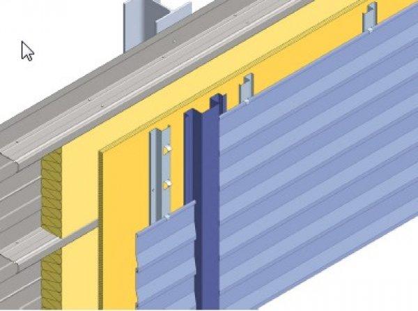 Toplotna izolacija fasade z vidno fugo Struktur