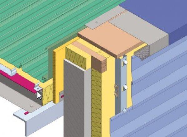 Izolacija fasade - zaključek na atiki Struktur
