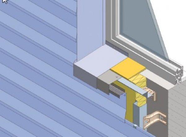 Izolacija fasade, spodnji okenski zaključek Struktur