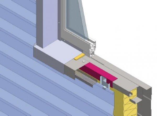 Toplotna izolacija fasade, spodnji okenski zaključek Struktur