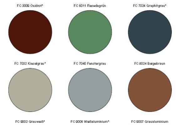 Standardni barvni odtenki DOMICO