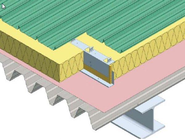 Topla streha s trapezno pločevino