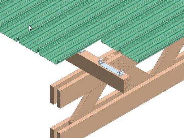 Hladna streha na leseni pokonstrukciji