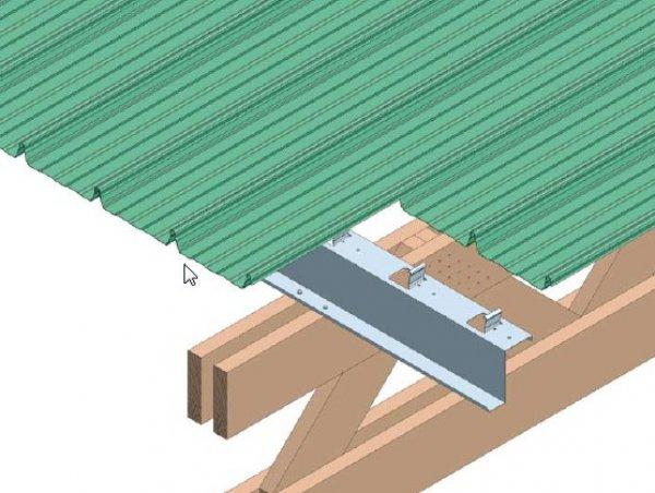 Hladna streha na leseni podkonstukciji